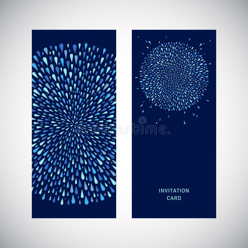 Business card design, round water drops shape, circle royalty free illustration