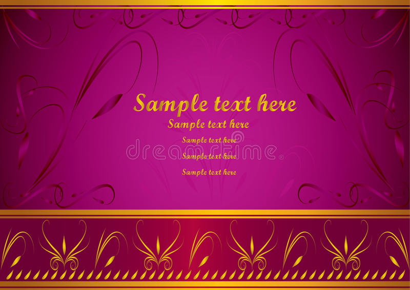 Download Invitation card stock vector. Illustration of decorating - 10874647