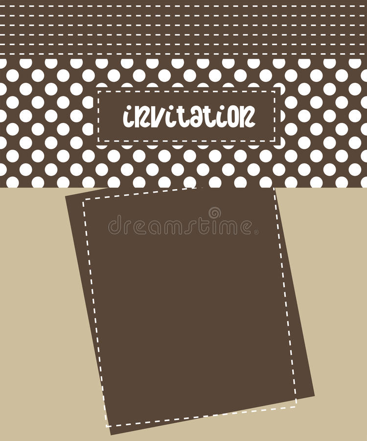 Download Invitation card stock vector. Image of stripes, celebration - 14834894