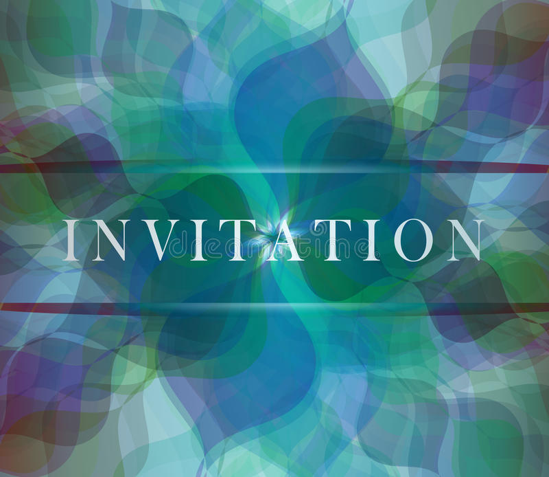 Download Invitation card stock vector. Image of blue, decorative - 23543472