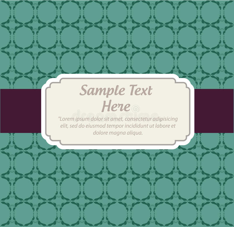 Download Invitation  card stock vector. Image of decorative, detailed - 24631234