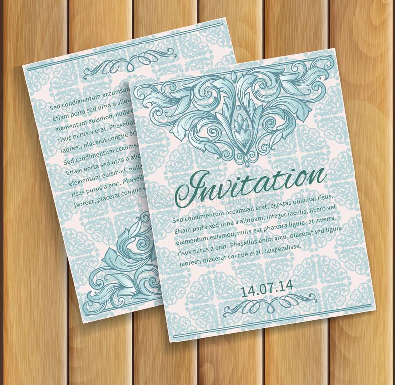 Free Invitation Card Stock Photo - 39258680