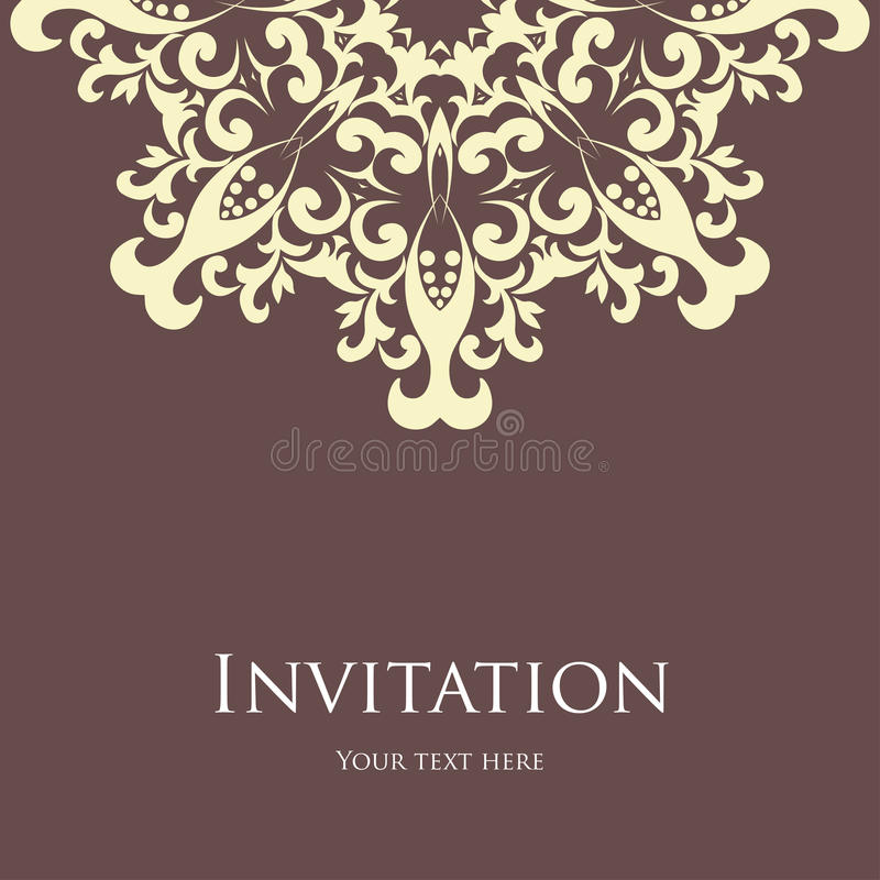 Invitation card royalty free illustration