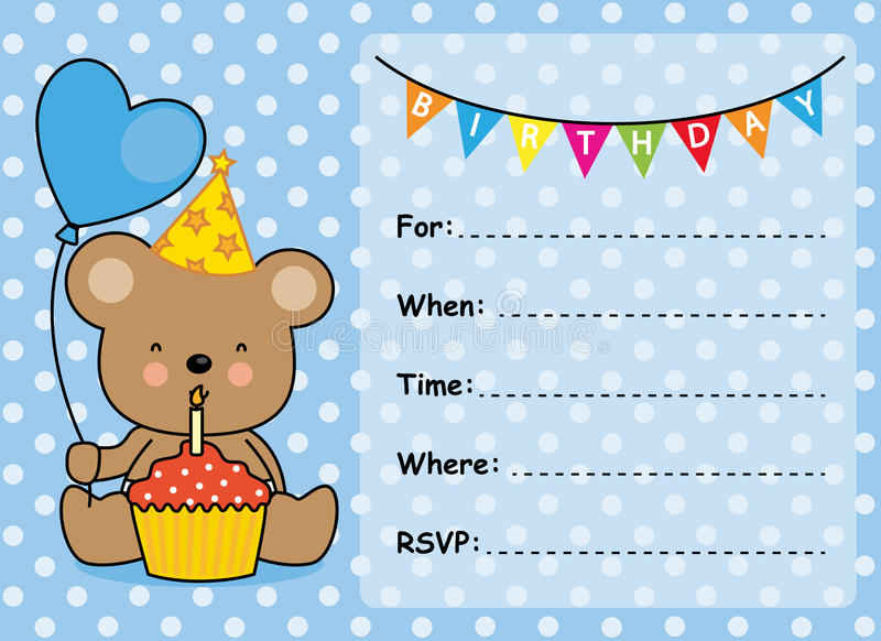 Invitation card birthday boy stock vector illustration of love download invitation card birthday boy stock vector illustration of love bear 57459258 stopboris Image collections