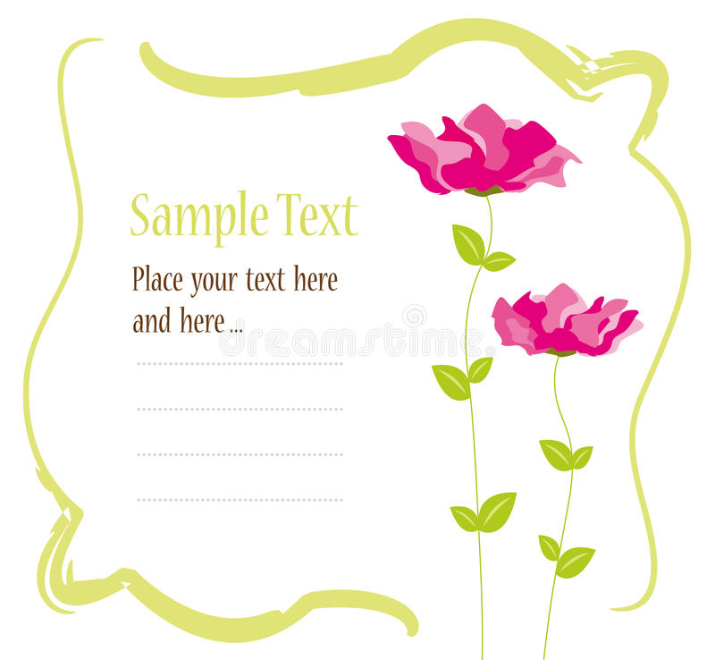 Invitation card design stock illustration