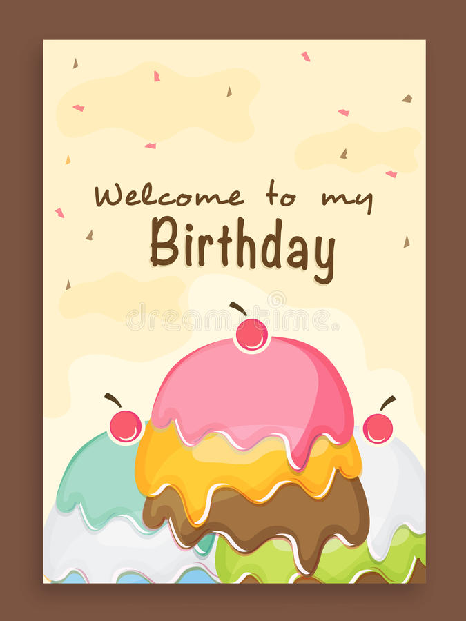 invitation card design for birthday party