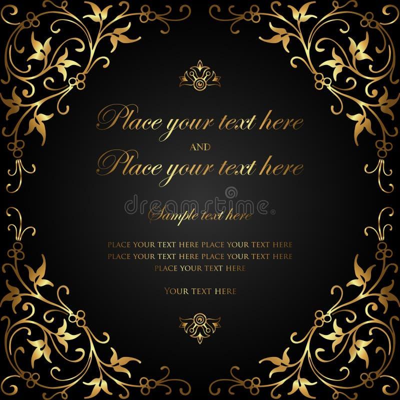 Invitation card design luxury black and gold vintage style stock download invitation card design luxury black and gold vintage style stock vector illustration of stopboris Choice Image