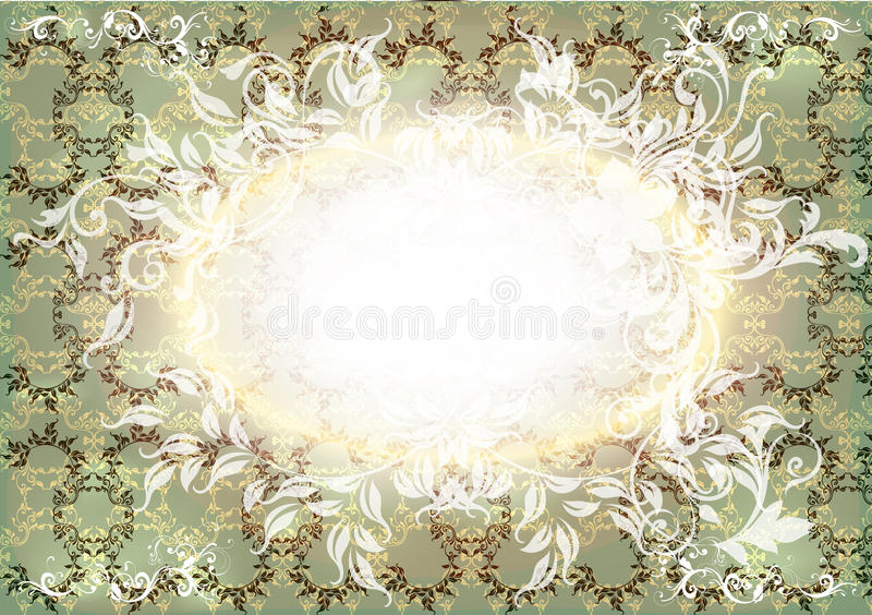 Download Invitation Card With Floral Elements In Vintage Stock Vector - Image: 26507315