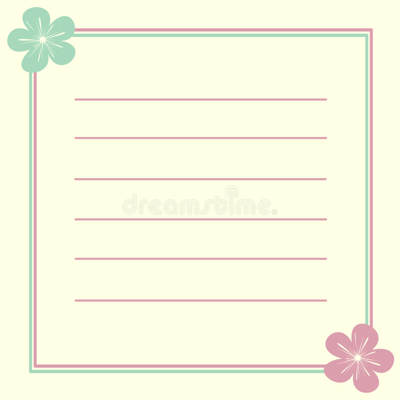 Invitation Card Frame With Cute Lovely Flowers Illustration ...
