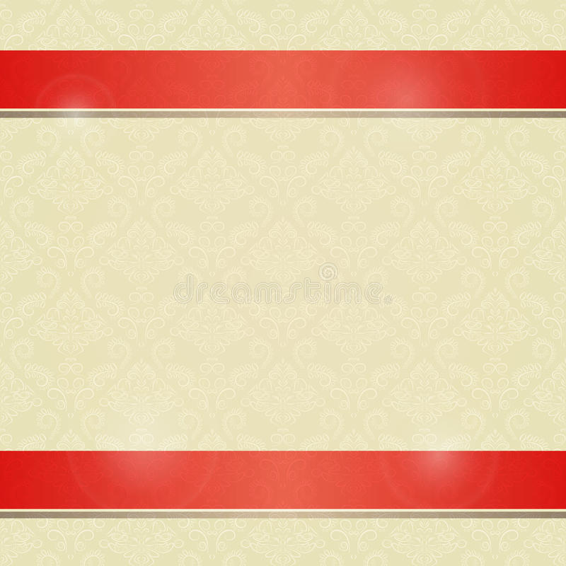 Download Invitation Card With Horizontal Red Line Decoration Stock Illustration - Image: 30308858
