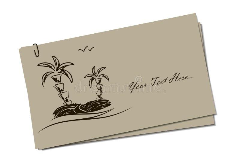 Invitation card with island stock vector illustration of vacation download invitation card with island stock vector illustration of vacation seagull 25092918 stopboris Choice Image