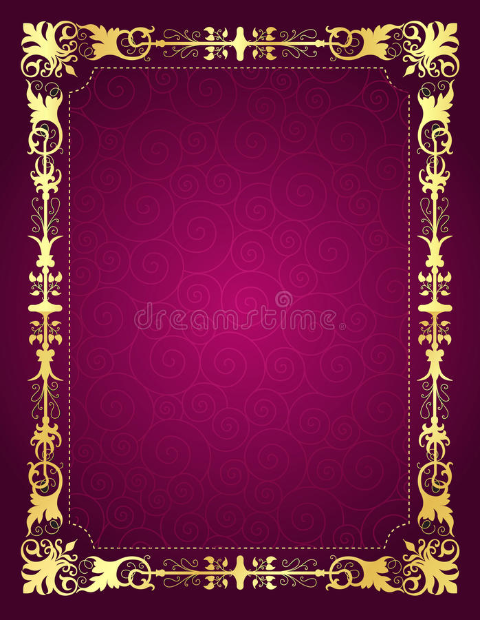 Download Invitation Card With Ornamental Frame And Backgrou Stock Vector - Image: 30829408