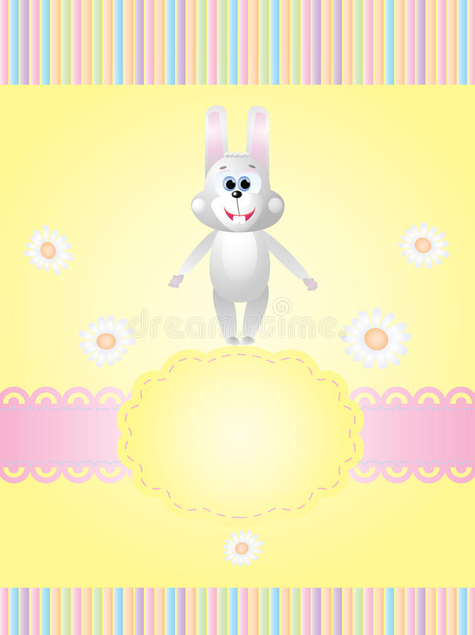 Download Invitation Card With A Rabbit Stock Vector - Image: 17954679