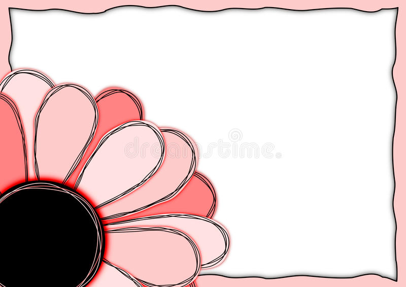 Invitation Card Red Flower Frame vector illustration