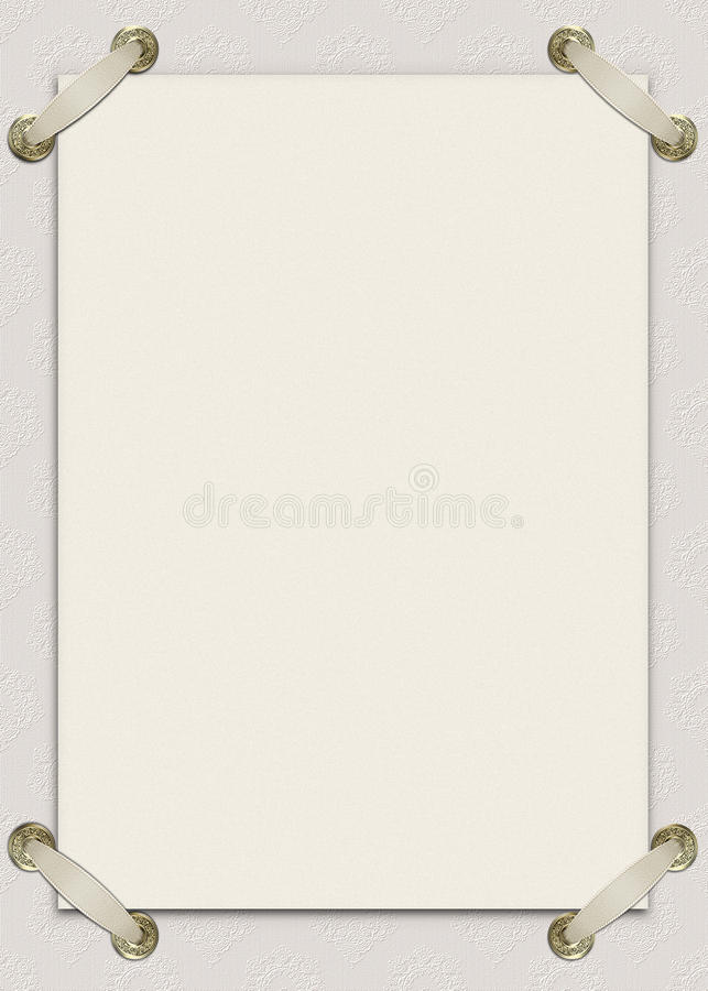 Download Invitation Card With Ribbons Stock Illustration - Illustration of decoration, color: 11211289