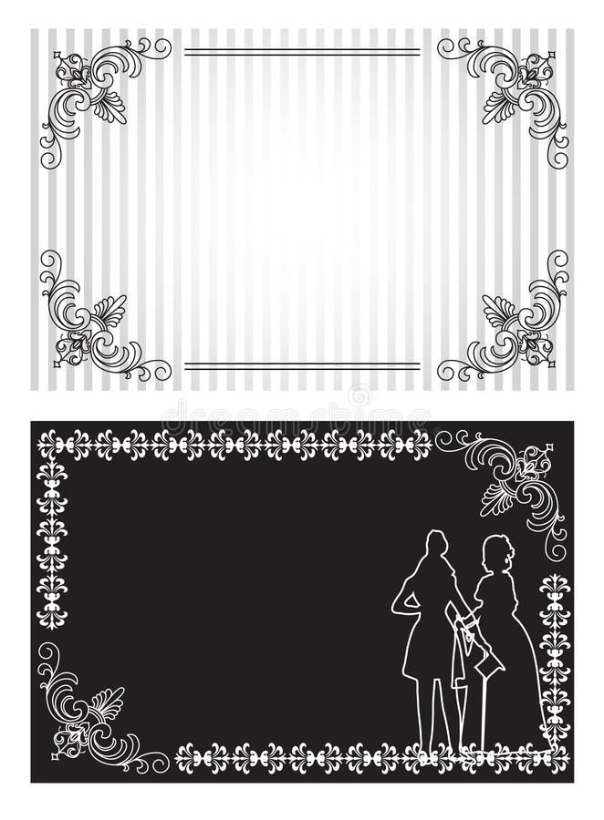 Download Invitation card set stock vector. Illustration of card - 27047390