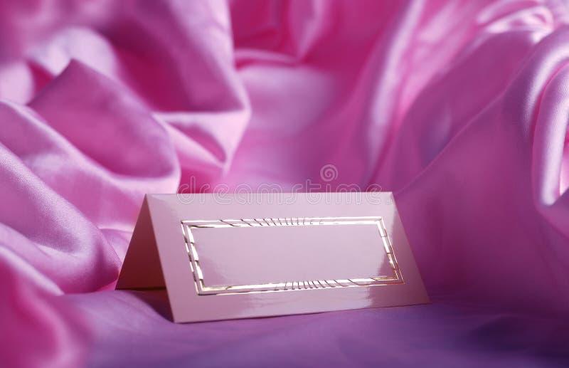 Invitation card on silk royalty free stock image