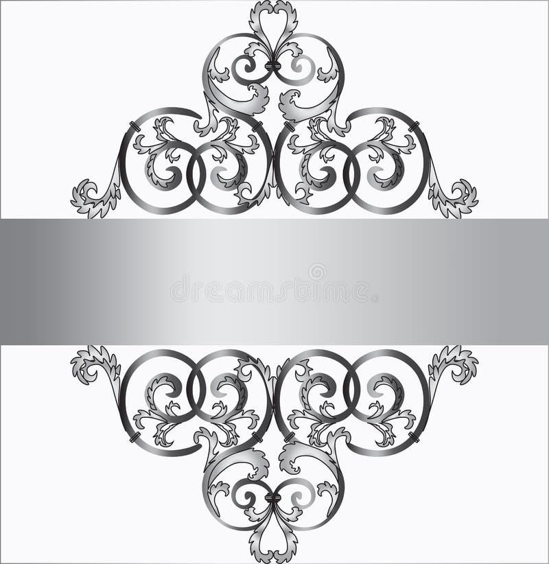 Invitation card in silver ornament stock vector illustration of download invitation card in silver ornament stock vector illustration of modern ornament 70083668 stopboris Images