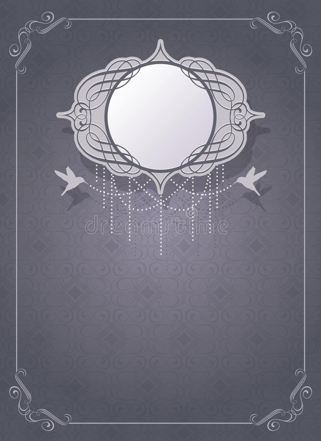 Invitation card template royalty free illustration