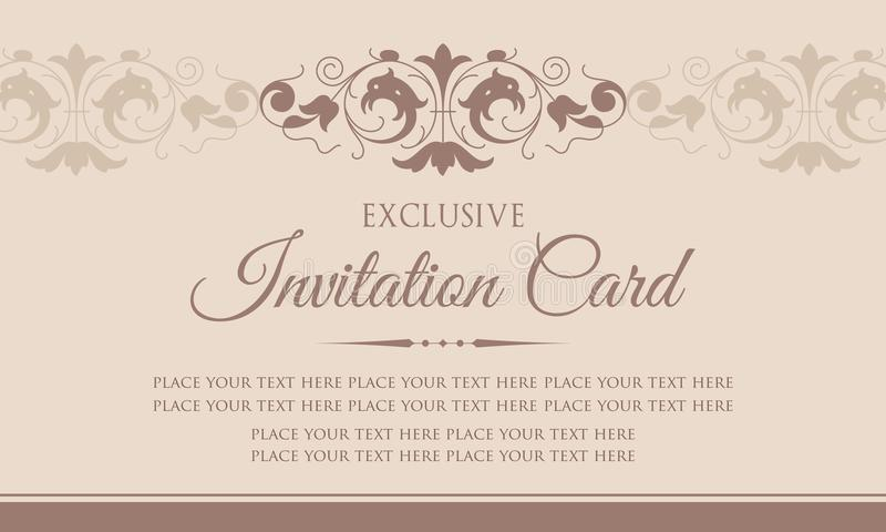 Invitation card template exclusive vintage style stock vector luxury vintage vector template for invitation card design stopboris Choice Image