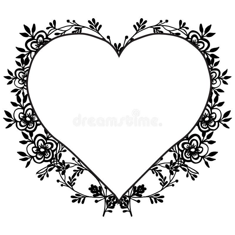 Invitation card template, feature elegant flower frame. Vector. Illustration vector illustration