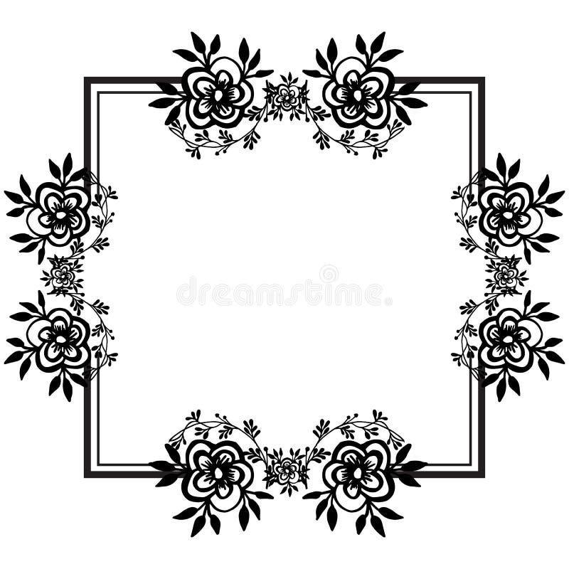 Invitation card template, feature elegant flower frame. Vector. Illustration stock illustration