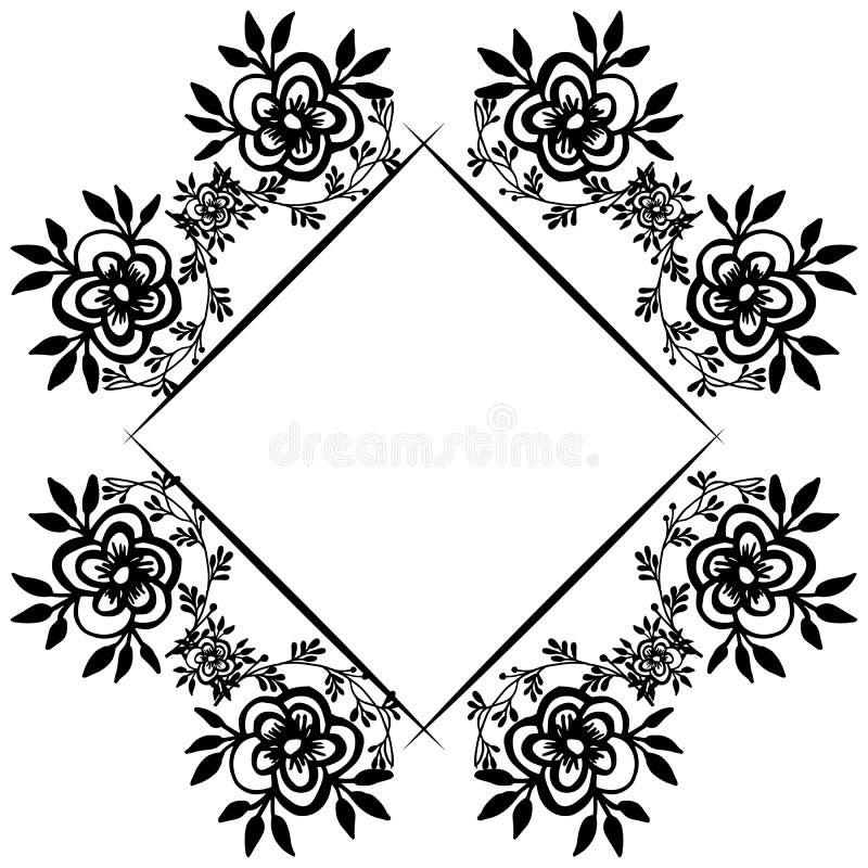 Invitation card template, feature elegant flower frame. Vector. Illustration royalty free illustration