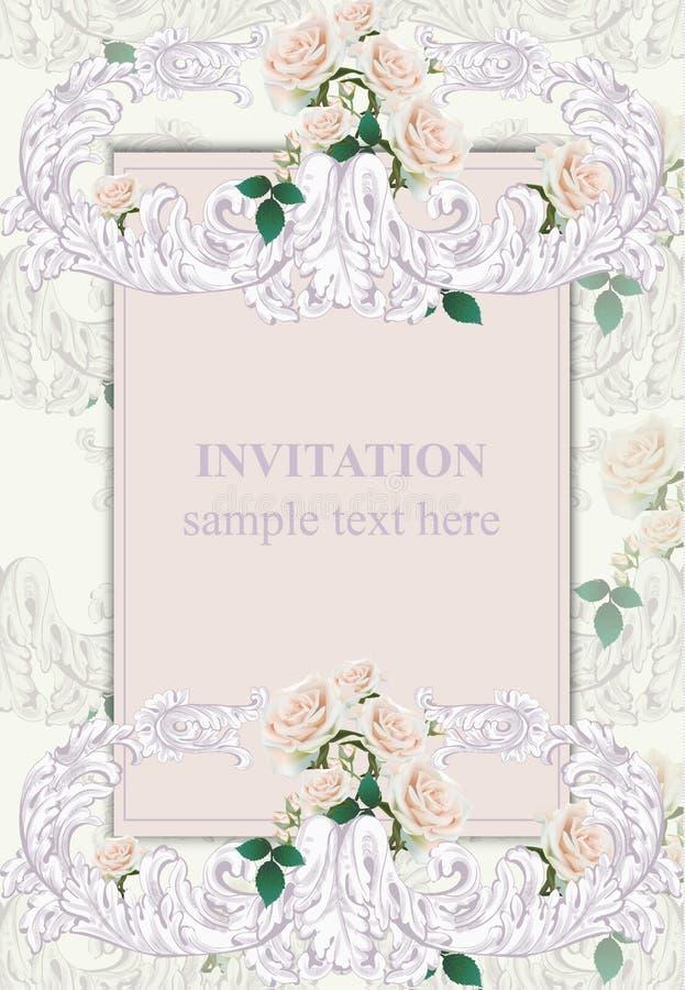 Invitation card vector royal victorian pattern ornament baroque download invitation card vector royal victorian pattern ornament baroque backgrounds lavender colors stock stopboris Images