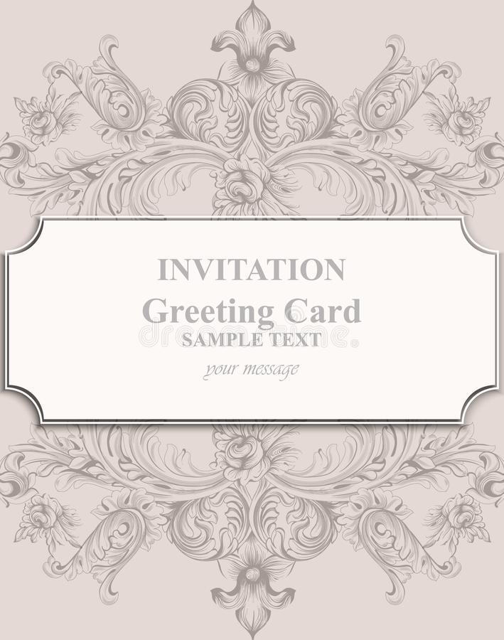 Invitation card vector royal victorian pattern ornament baroque download invitation card vector royal victorian pattern ornament baroque backgrounds primrose pink colors stopboris Gallery