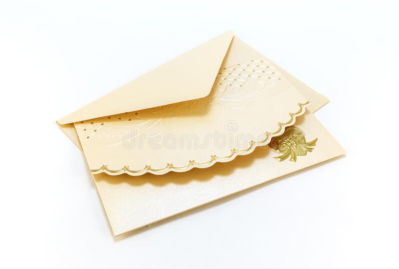 Invitation card on a white background stock photo