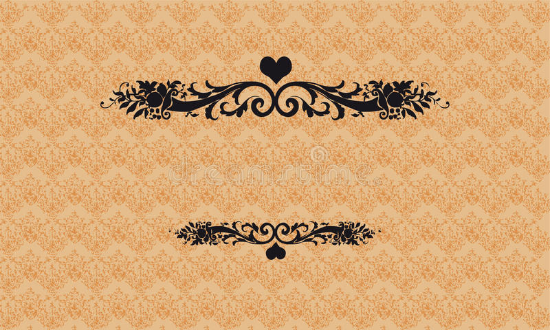 Invitation cards. In an old-style gold vector illustration