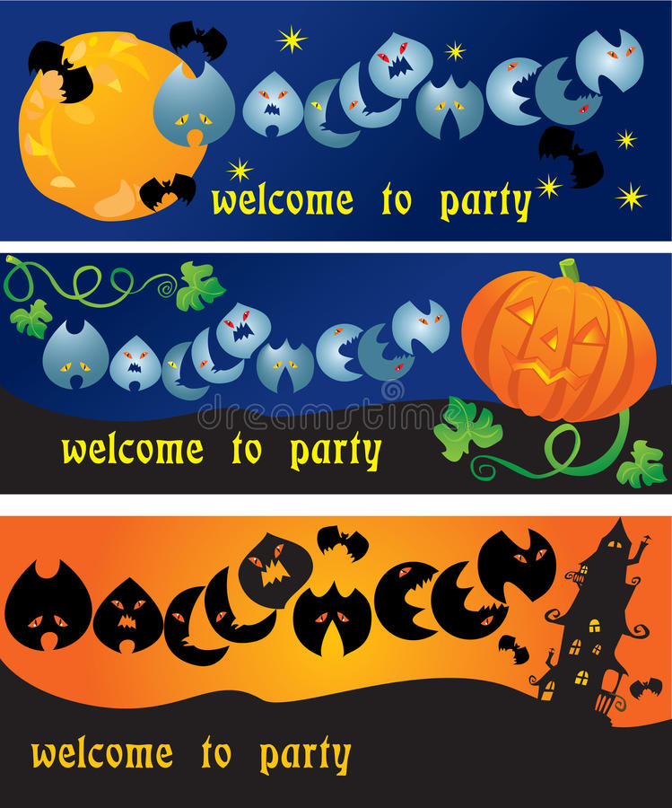 Download Invitation Cards To Halloween Party Stock Vector - Illustration: 26523168