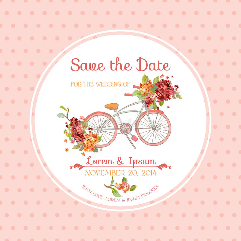Invitation or Congratulation Card - for Wedding, Baby Shower stock illustration