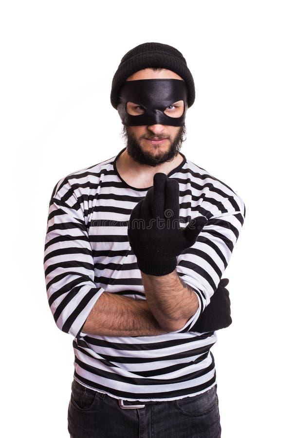 Invitation criminelle fâchée avec la main photo libre de droits