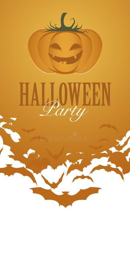 Invitation d'insecte de partie de Halloween de potiron illustration libre de droits