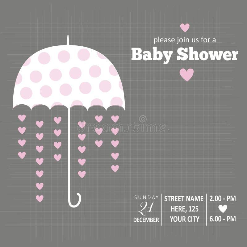 Invitation de bébé pour la fête de naissance illustration de vecteur