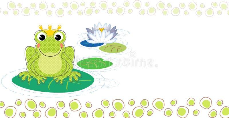 Invitation de baptême de grenouille illustration de vecteur