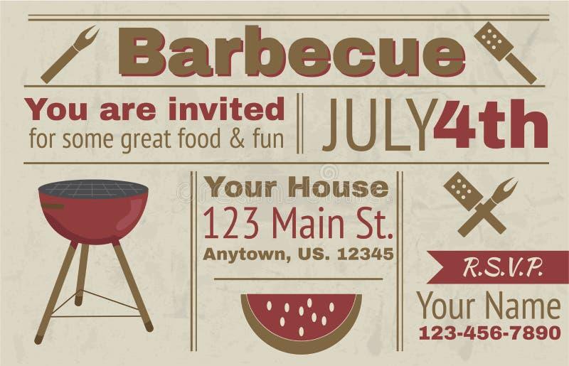 Invitation de barbecue de Summre illustration libre de droits