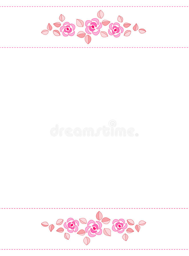 Invitation de cadre/mariage de Rose illustration stock