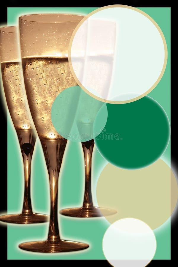 Invitation de Champagne images stock