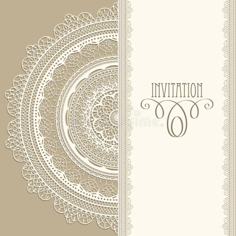 Invitation de cru illustration libre de droits
