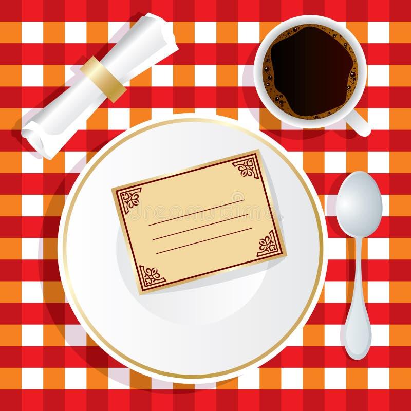 Invitation de déjeuner illustration de vecteur
