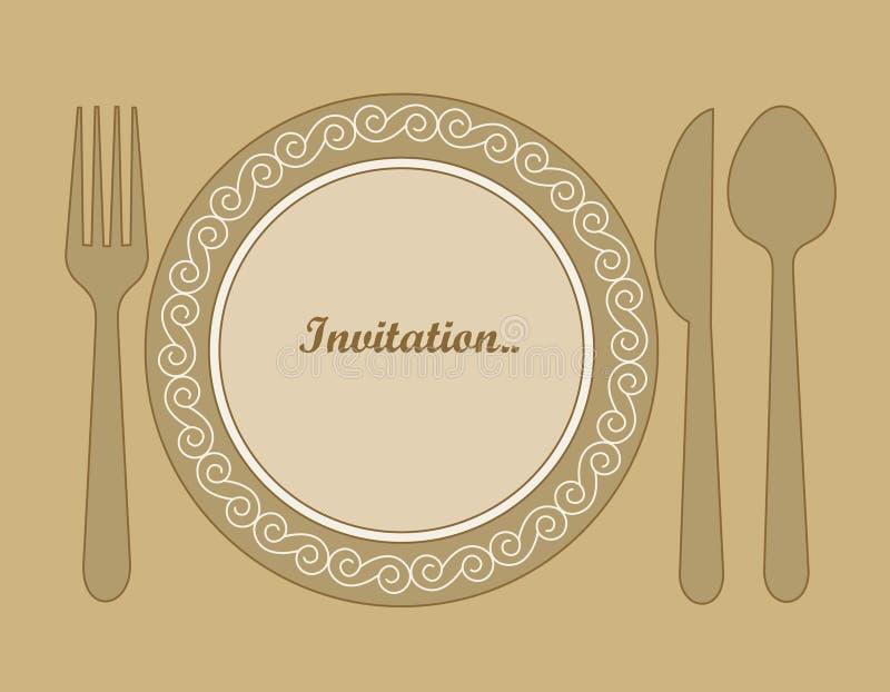 Invitation de dîner illustration libre de droits