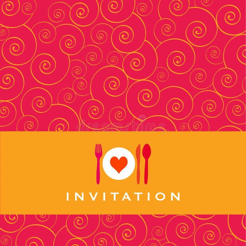 Invitation de dîner illustration stock