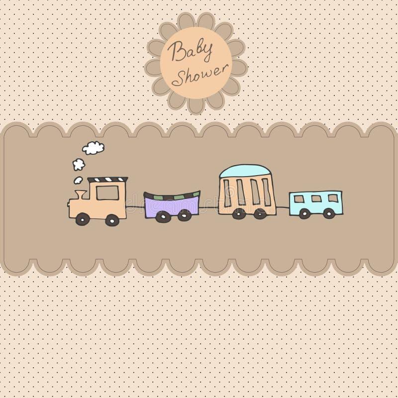 Invitation de douche de carte d'arrivée de bébé illustration de vecteur