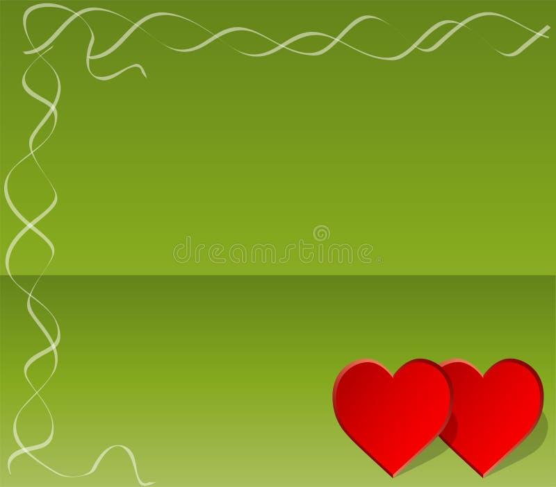 Invitation de jour de Valentines illustration de vecteur