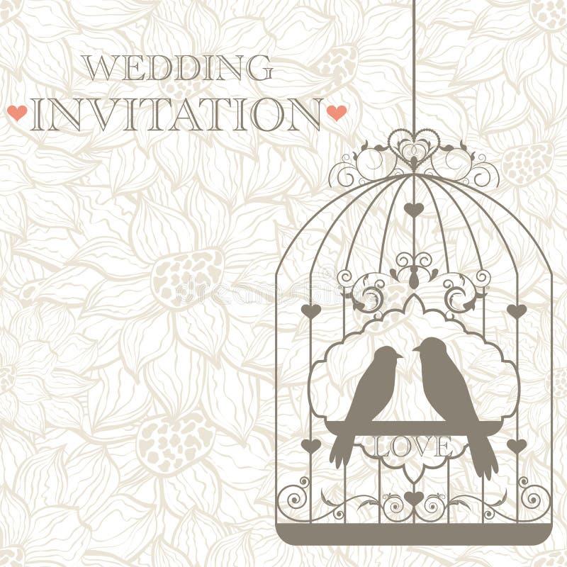 Invitation de mariage illustration libre de droits