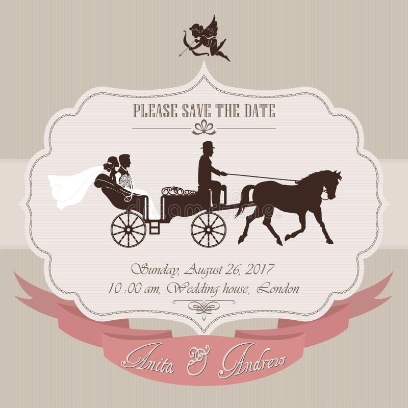 Invitation de mariage illustration stock