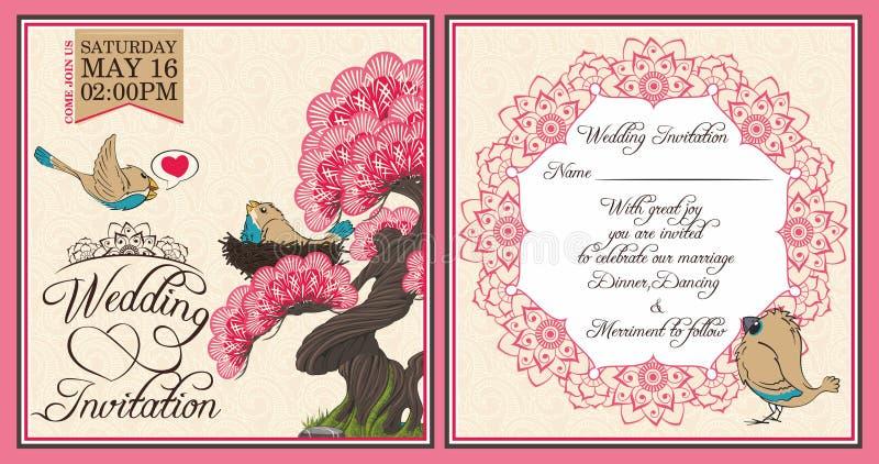 Download Invitation de mariage illustration de vecteur. Illustration du cartoon - 76075135