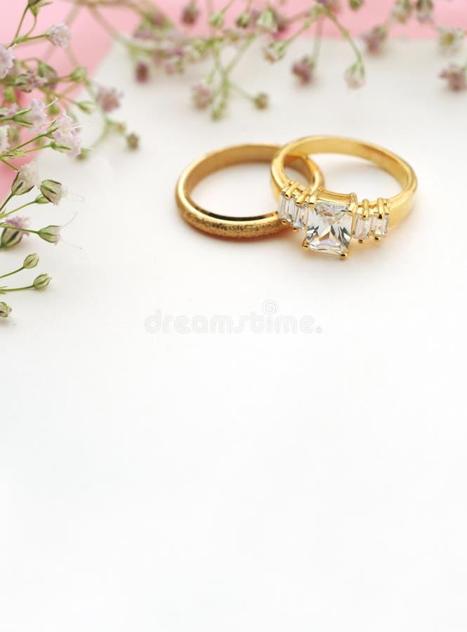 Invitation de mariage avec l'espace de copie photos stock